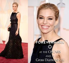 Oscars: Sienna Miller wearing Forevermark Diamonds. Available at Gross Diamond Co. #oscars #louisvillejewelers #diamonds