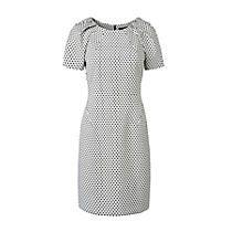 Steps jurk Wit/zwart