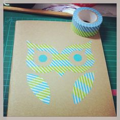 decorated notebook with masking tape