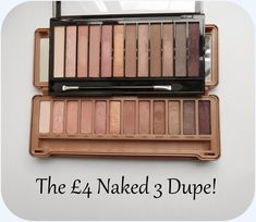 Urban Decay Naked 3 vs Makeup Revolution Redemption Palette Iconic 3 -perfect dupe