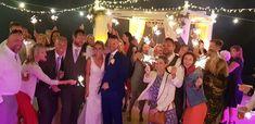 Vince & Katrin 5th May 2018 Santorini Gem   Wedding planners #simplymediterraneanweddings.co.uk Lighting #Multimedia