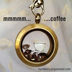 Origami Owl is a leading custom jewelry company known for telling stories through our signature Living Lockets, personalized charms, and other products. Origami Owl Necklace, Origami Owl Lockets, Origami Owl Jewelry, Owl Coffee, Coffee Time, Coffee Cup, Starbucks Coffee, Morning Coffee, Floating Lockets
