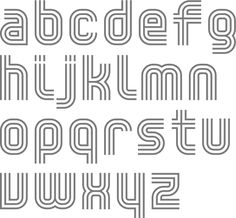 MyFonts: Multilined typefaces