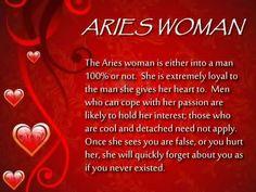 Aries women in love...