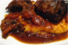 Viva La France: Braised Short Ribs with Creamy Parmesan Polenta
