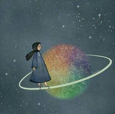 hijab girl illustration /by Cartoon Girl Images, Girl Cartoon, Cartoon Art, Sunset Wallpaper, Galaxy Wallpaper, Hijab Drawing, Image Citation, Anime Muslim, Hijab Cartoon