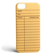 Library Card iPhone 5 case