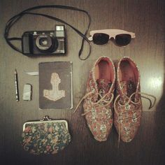 things in my bag and shoes