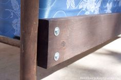 How-to Build a Frame for an Antique Metal Bed and Seal in a Rusty Patina Antique Headboard, Antique Beds, Antique Metal, Build Bed Frame, Making A Bed Frame, Cast Iron Bed Frame, Cast Iron Beds, Metal Bed Rails, Metal Beds