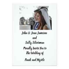 Photo Wedding Invitation - photo gifts cyo photos personalize