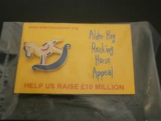 Alder-Hay-Rocking-Horse-Appeal-Charity-Pin-Badge-On-Card