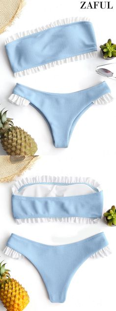 Up to 80% OFF! Ruffle Bandeau Bikini Set. #Zaful #Swimwear #Bikinis zaful,zaful outfits,zaful dresses,spring outfits,summer dresses,Valentine's Day,easter,super bowl,st patrick's day,cute,casual,fashion,style,bathing suit,swimsuits,one pieces,swimwear,bikini set,bikini,one piece swimwear,beach outfit,swimwear cover ups,high waisted swimsuit,tankini,high cut one piece swimsuit,high waisted swimsuit,swimwear modest,swimsuit modest,cover ups @zaful Extra 10% OFF Code:ZF2017