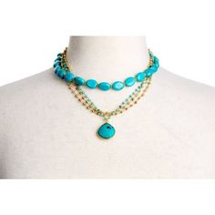 Check out this item at One Kings Lane! Turquoise Happy Hour Necklace