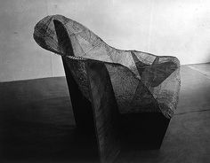The Milanese. » Mesh Structure of Plaster Mold for La Chaise, Ray and Charles Eames, 1948.