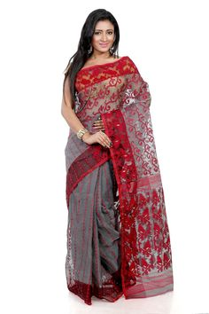 B3fashion Handloom Designer Grey Colored Soft Dhakai Jamdani Silk Saree: Amazon : Clothing & Accessories  http://www.amazon.in/gp/product/B015VBSQ5I/ref=as_li_tl?ie=UTF8&camp=3626&creative=24822&creativeASIN=B015VBSQ5I&linkCode=as2&tag=onlishopind05-21  #Soft #Silk #Sarees