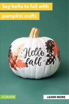Say hello to fall with Pumpkin crafts Fall Pumpkin Crafts, Thanksgiving Crafts, Fall Pumpkins, Holiday Crafts, Autumn Crafts, Fall Crafts For Kids, Holiday Decor, Diy Halloween Decorations, Halloween Wreaths