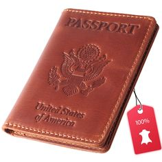 Personalized Camo Genuine Leather Passport Cover