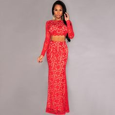 48d950326b Click to Buy << Fashion Cute Red Mermaid Party Gown Ballkleider Galajurken  Long