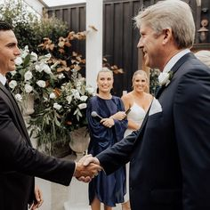 The moment when dad wishes the groom Good luck which Im sure has plenty of meanings including - good luck to your bank balance Im tapping out Marriage Celebrant, Good Luck To You, Wish, Meant To Be, Groom, Dads, In This Moment, Couples, Celebrities