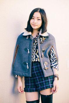 Xiaohan Shen... In a wool cape