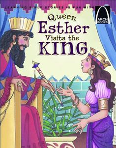 Queen Esther Visits the King (Arch Books) by Karen Clopton-Dunson http://www.amazon.com/dp/0758634293/ref=cm_sw_r_pi_dp_7N70wb1E2S2MQ