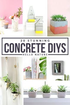 20 Stunning Concrete DIY Projects…