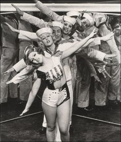 Bernadette Peters and cast in <i>Dames at Sea</i> Off-Broadway, 1966