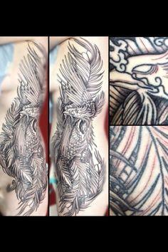 Phoenix tattoo second session