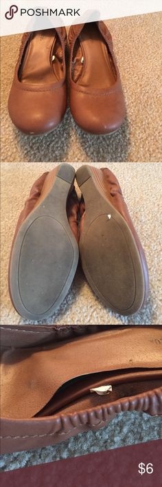 Mossimo Supply Co. brown wedge flats size 8 NOTE: there are signs of wear around the toe, also the inside sole is coming apart on right shoe. Very comfy, perfect for work. Mossimo Supply Co. Shoes Flats & Loafers