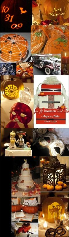 Halloween wedding ideas.. I wouldn't Do a wedding but def  a party!