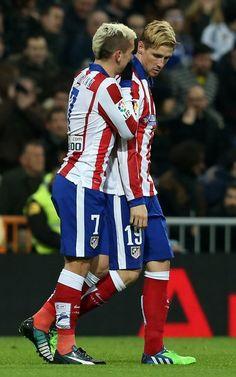 Antoine Griezmann and Fernando Torres