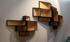 Wall-mounted MDF bookcase SheLLf By Kristalia design Ka-Lai Chan Shelving Design, Modern Shelving, Storage Design, Shelf Design, Storage Ideas, Unique Furniture, Furniture Design, Luxury Furniture, Regal Design