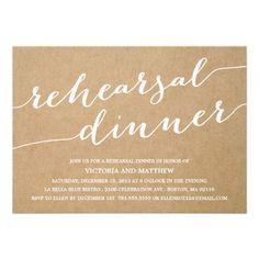 MODERN CALLIGRAPHY KRAFT PAPER | REHEARSAL DINNER INVITATION #wedding