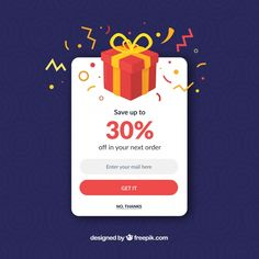 Colorful promotion pop up with flat design Free Vector Design Ios, News Web Design, Game Ui Design, Mobile Ui Design, Flat Design, Pop Up App, Design Thinking, Iphone Ui, Pop Up Banner