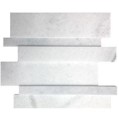 Avenzo 12-in x 12-in 3D Espace Carrera Linear White Marble Mosaic Wall Tile  Avenzo 12-in x 12-in 3D Espace Carrera Linear White Marble Mosaic Wall Tile…