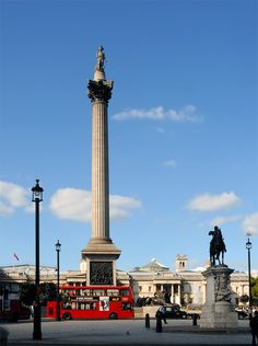 Nelson's Column, Trafalgar Square, London, England.