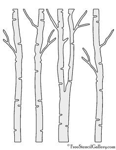 scrapbook Birch Tree Stencil Shopping for What You Have to Transform Your Kitchen Have you ever just Stencil Wall Art, Bird Stencil, Leaf Stencil, Damask Stencil, Printable Stencil Patterns, Stencil Templates, Birch Tree Art, Tree Wall Art, Tree Outline