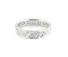 An 18ct White Gold and Diamond Eternity Ring