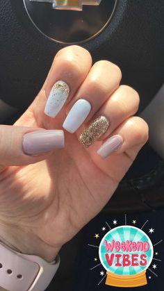 30 ideas which nail polish to choose - My Nails Summer Acrylic Nails, Best Acrylic Nails, Summer Nails, Perfect Nails, Gorgeous Nails, Cute Nails, Pretty Nails, Hair And Nails, My Nails