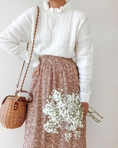 This beautiful life sweater – Breath of Youth Boho Outfits, Skirt Outfits, Pretty Outfits, Spring Outfits, Cute Outfits, Fashion Outfits, Fashion Tips, Fashion Fashion, Fashion Hacks