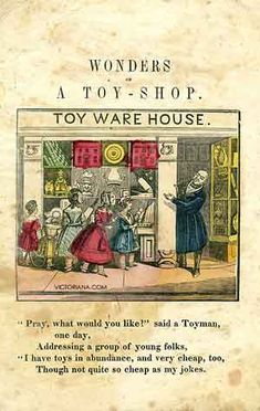Rare antique book, Wonderful Toy Shop - Orphans wouldn't have these toys but it…