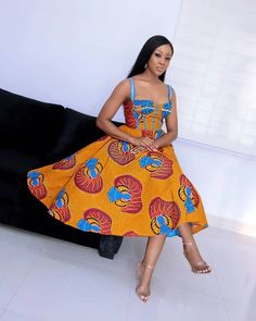 Try out this amazing beautiful Ankara dress we have for you ,This specially Ankara dress we selected for you will make you look Fabulous and stand out in any Occasion or Event ,you Lady of styles attend. African Print Dresses, African Print Fashion, African Fashion Dresses, African Dress, Ankara Fashion, African Prints, African Patterns, Latest Ankara Short Gown, Ankara Short Gown Styles
