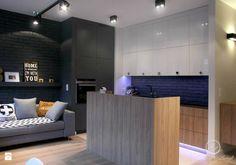 Nowoczesny salon z kuchnią w szarościach - zdjęcie od Le Pukka concept store - Kuchnia - Styl Nowoczesny - Le Pukka concept store