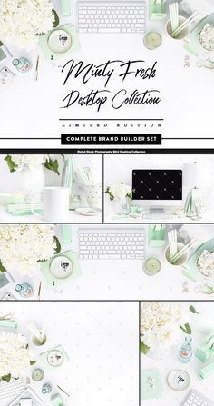 Fresh Minty Green and White! Refresh your brand with this elegant Limited Edition Collection! (Only 9 Left!!)   A Brand Builder Set is a cohesive set of styled stock images that have been hand selected to be used together to add a consistent photographic element to your branding at a lower price per image!  - Instant digital download  - Five Image set  - Each image is huge, 5060 x 3300 pixels in size  - Copyright Shay Cochra (affiliate referral)