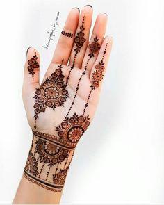 Pretty Henna Designs, Henna Tattoo Designs Simple, Floral Henna Designs, Basic Mehndi Designs, Latest Bridal Mehndi Designs, Stylish Mehndi Designs, Henna Art Designs, Mehndi Designs For Beginners, Mehndi Designs For Girls