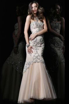 Nice 2014 Sweetheart Tulle Strapless Mermaid 2013 Evening/celebrity/pageant Dress