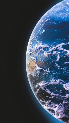 Blue Planet Deep Space - iPhone Wallpapers
