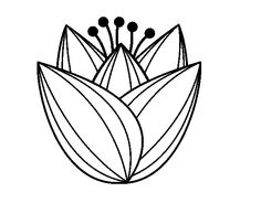 Dibujo de Flor de tulipán para Colorear