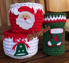 Diy Christmas Gifts, Christmas Projects, Holiday Crafts, Christmas Decorations, Crochet Crafts, Crochet Toys, Holiday Crochet Patterns, Crochet Basket Pattern, Crochet Table Runner