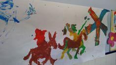 Decoracion pasillo don Quijote, alumnos TEA
